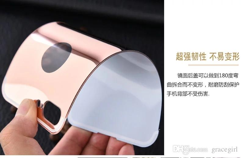 Bling Gold Plating Mirror Case For Iphone 7 Plus I7 Iphone7 Aluminum Frame Bumper Luxury Electroplated Chrome Metallic Phone Cover