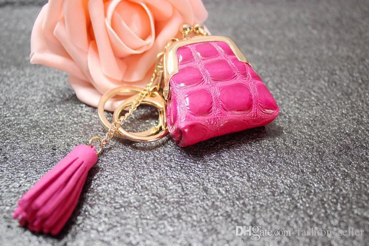 Chaveiro Saco Decorações Pouco Carteira de Couro PU Moda Fácil Transportar Cor Misturada muito Bolsas Decorativas