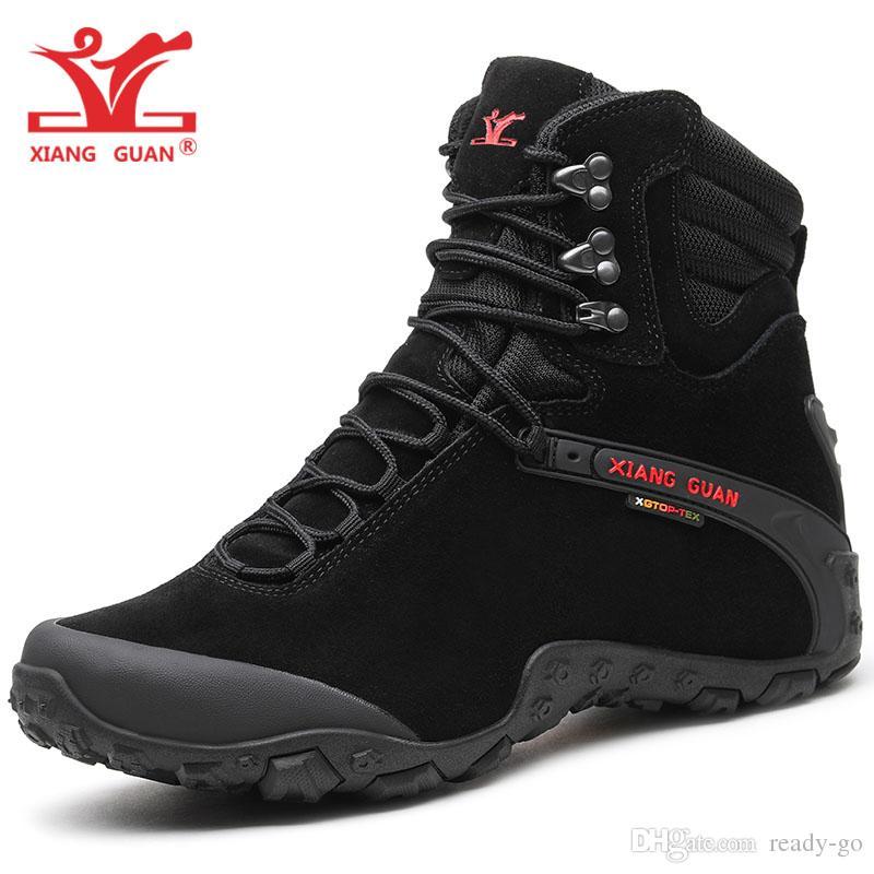 9bef34585bf Hombre Cuero De Vaca Botas Para Caminar Zapatos Cálidos De Invierno Para  Hombres Alto Alto Impermeable Atlético Escalada Deportes Botas De Nieve  Sendero ...