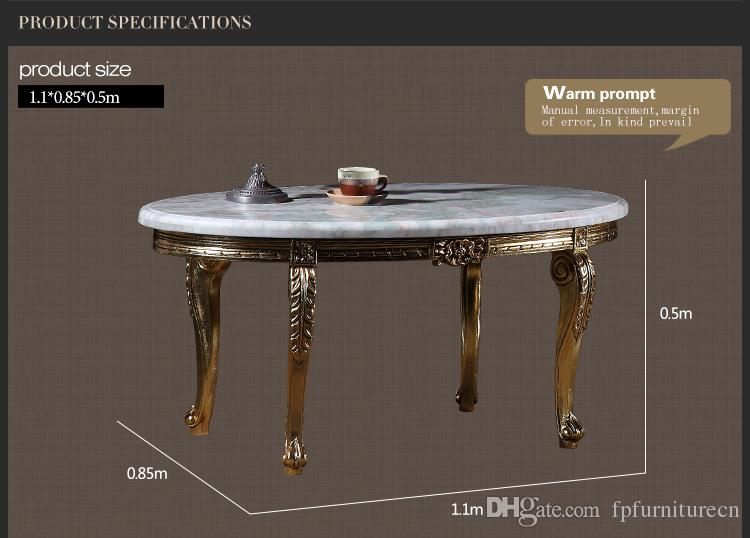 Italian solid wood living room furniture -French classic coffee table with marble top -Italian coffee table
