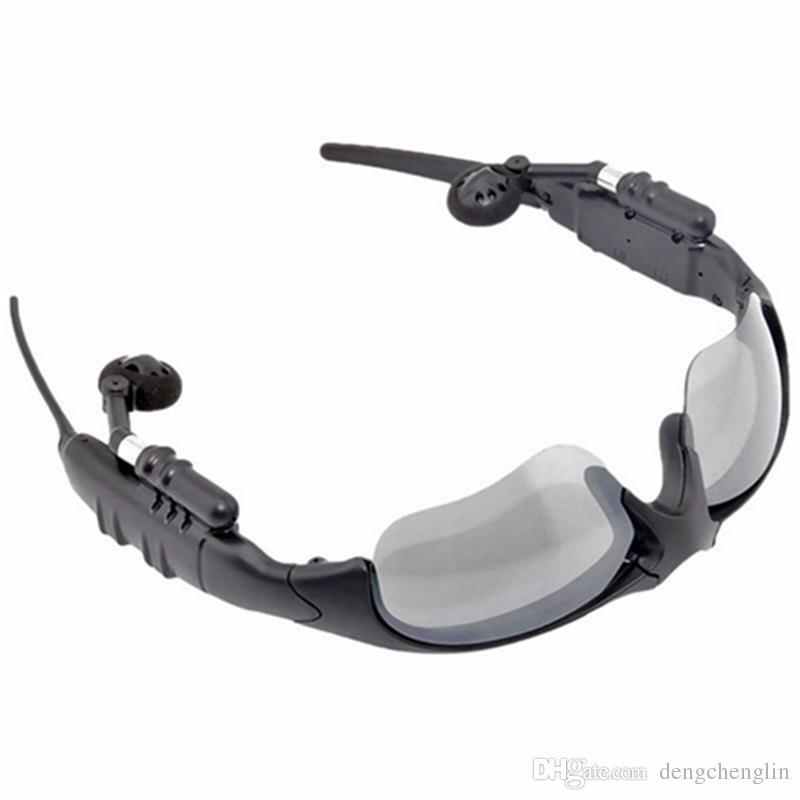Sans fil Bluetooth Lunettes de soleil Casque Universel Stéréo Sport Casques Pour Smart Phone Voyage Cycle Escalade livraison gratuite