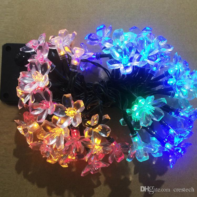 Hot type Rose Lotus Peach blossom LED strip christmas light holiday decoration LED fairy garden lights