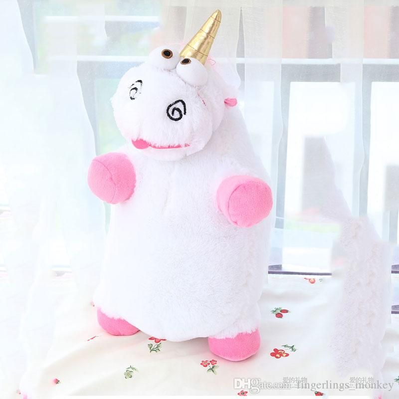 FREE SHIPPING KIds toy CUTE mini backpack LITTLE UNICORNS Christmas unicorn plush toy backpack barbie dolls 6-29 inch pink and white