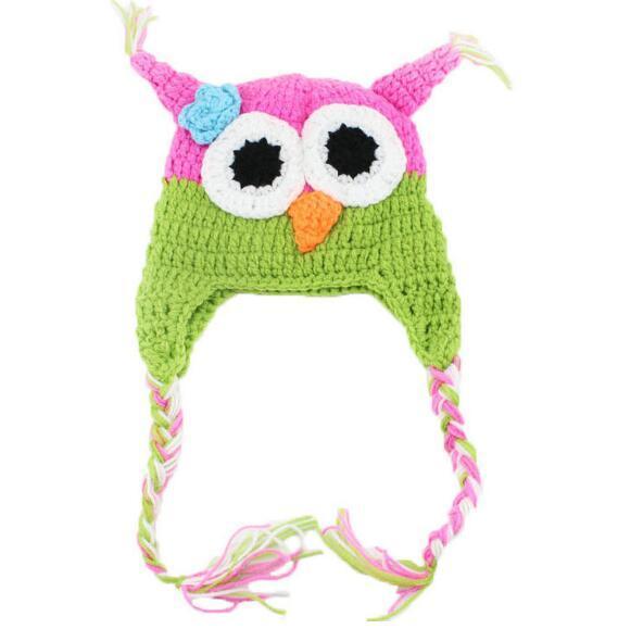 Heißer Verkauf Winter Wolle OWL Kinder Manuelle Kappe Häkeln Schöne Baby Beanie Handgemachte Kappe Kinder Infant Stricken OWL Hüte Großhandel 2016 Neue Mode