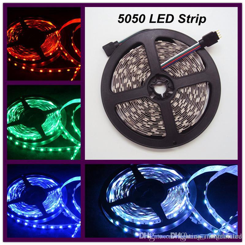 Outdoor Waterproof Solar Led Strip Light Smd 5050 5m: 5m/roll 5050 SMD Ledstrip Outdoor Led Christmas Lights Led