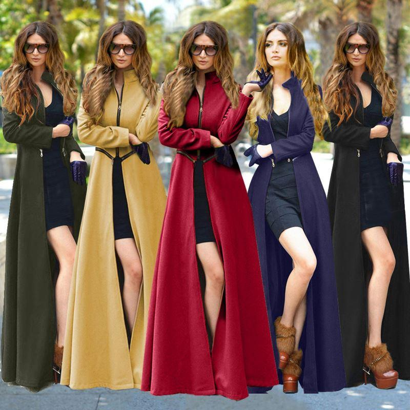 2018 2016 Winter Women Wool Floor Length Trench Coat Overcoat Warm Woman  Maxi Trench Coats Plus Size S 2xl Womenu0027S Clothing From Wp1431868570, ...