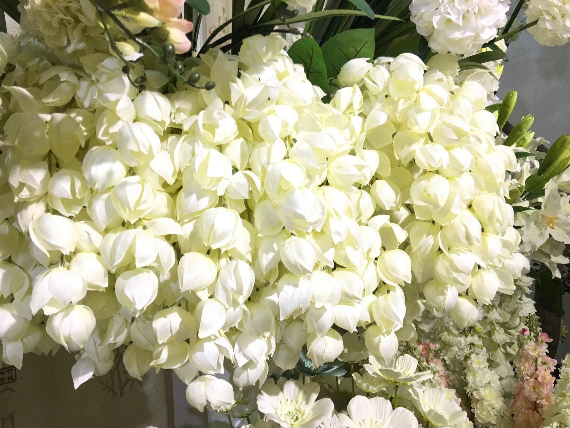 2016 NEW Artificial silk flower 1 Bouquet contain 25 small lanterns flower pendulous flower Rattan for Wedding Home decoration