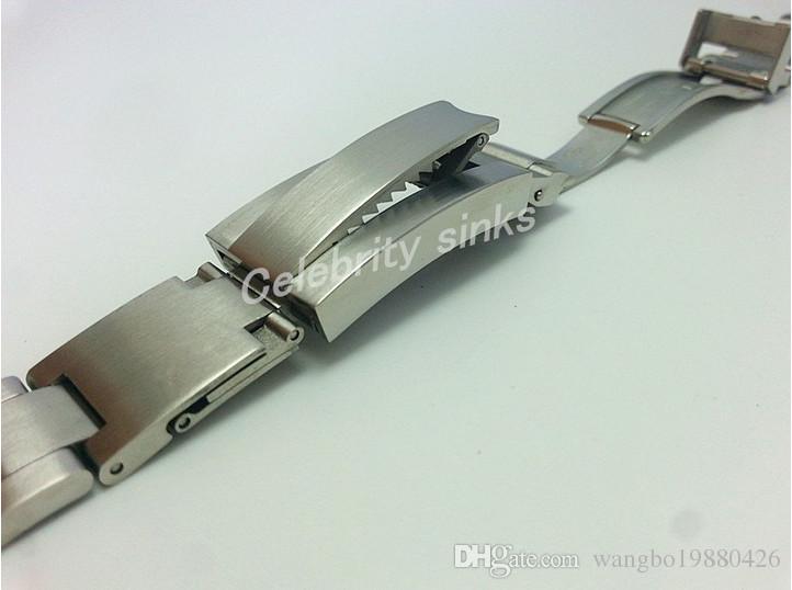 20mm 스트랩 고품질의 견고한 스테인레스 스틸 시계 밴드 곡선 엔드 조절 팔찌 버클 롤렉스 시계 팔찌에 대한