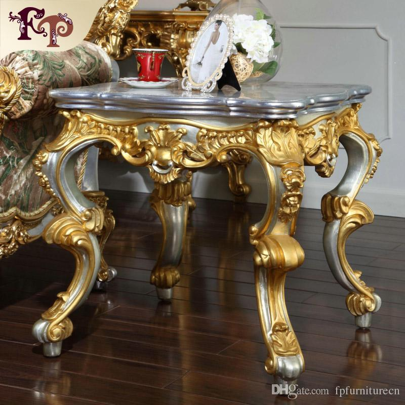 2018 Antique Baroque Living Room Furniture French Classic Coffee Table With  Gold And Silver Leaf Gilding Italian Classic Coffee Table From  Fpfurniturecn, ...