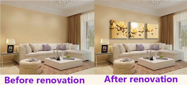 Modern 5 Painel Preto e Branco Animal Leão Canvas Wall Art Imagem para Casa ou Sala de estar Decoração Presente para O Pai Sem Moldura