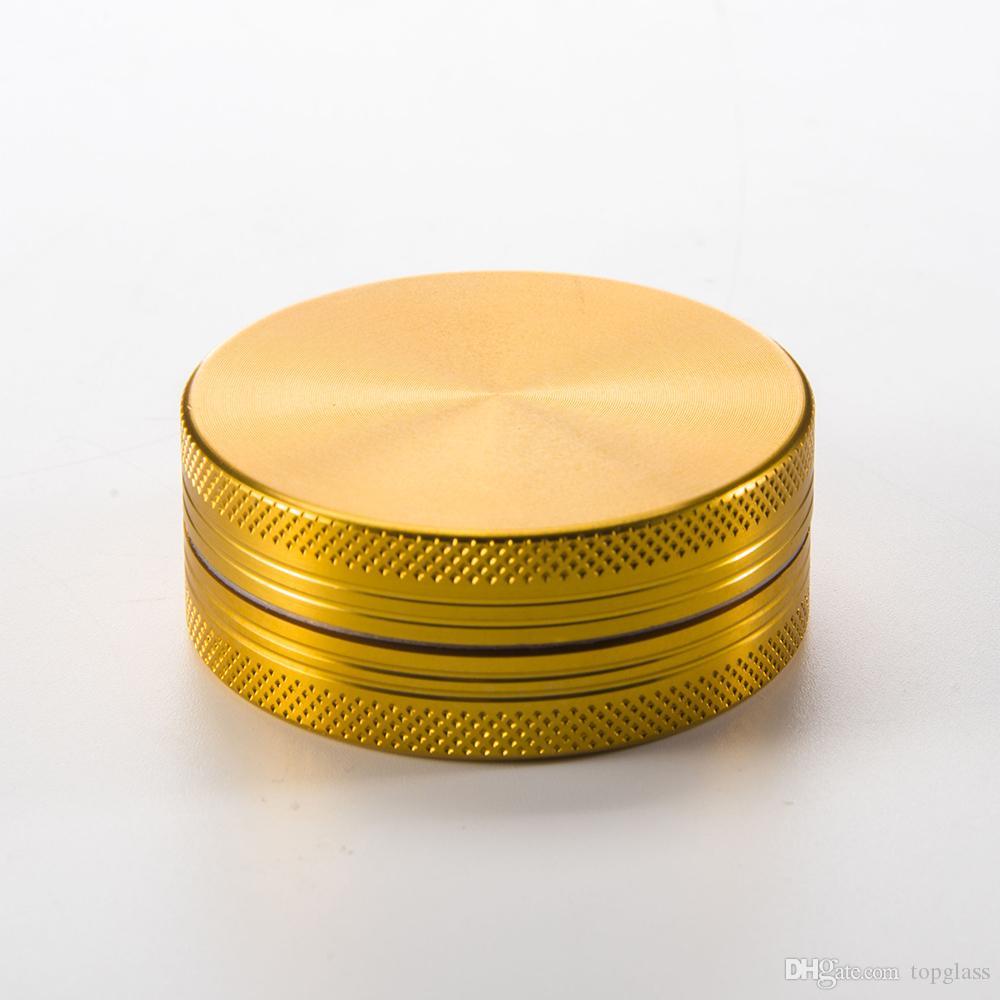 2 Parça Kuru Bitkisel Öğütücü Herb metal sigara aksesuarları Altın Keskin dişler Lüks Alüminyum tütün öğütücü, ucuz ama yüksek kalite!