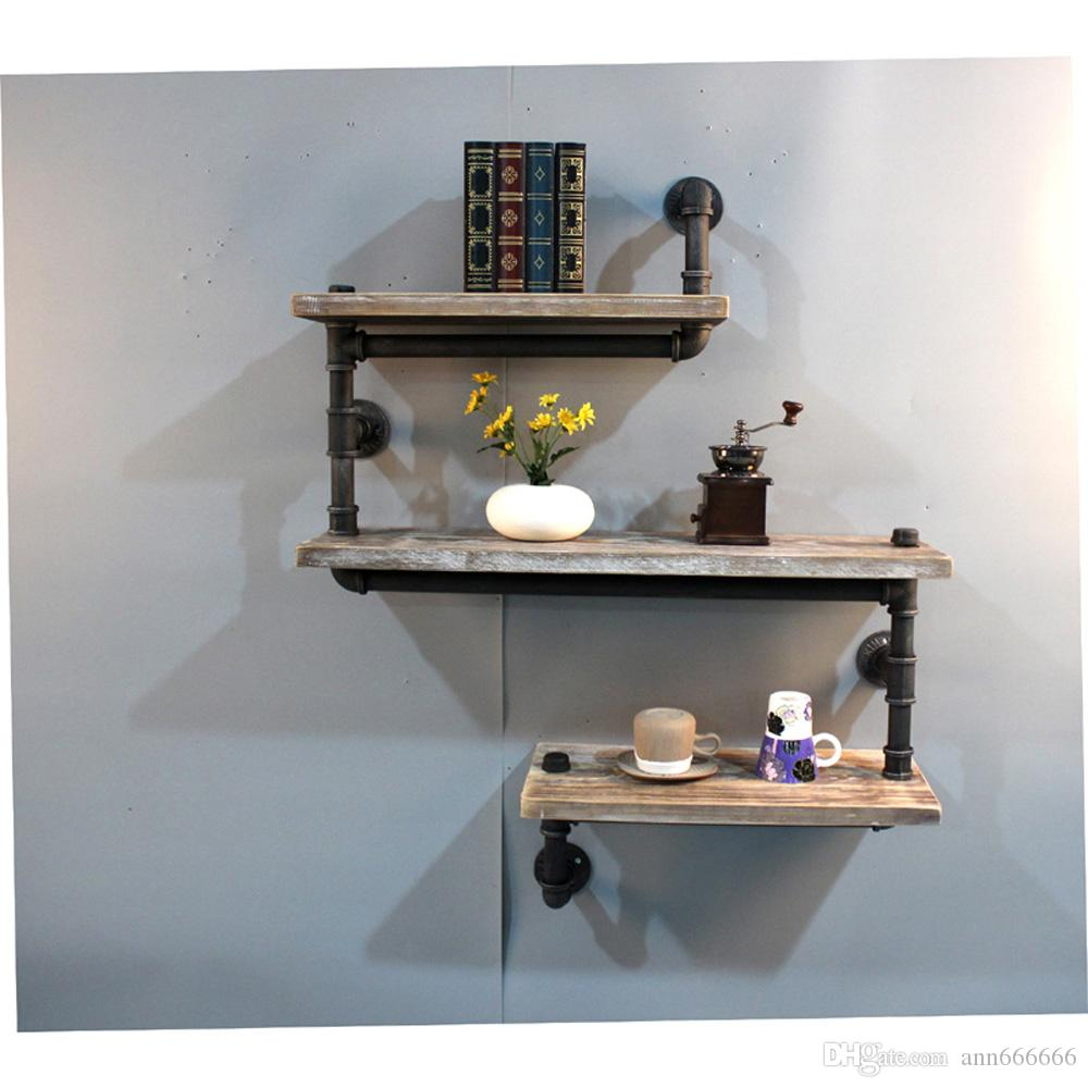2018 storage bookcase diy industrial retro wall mount pipe shelf see larger image amipublicfo Images