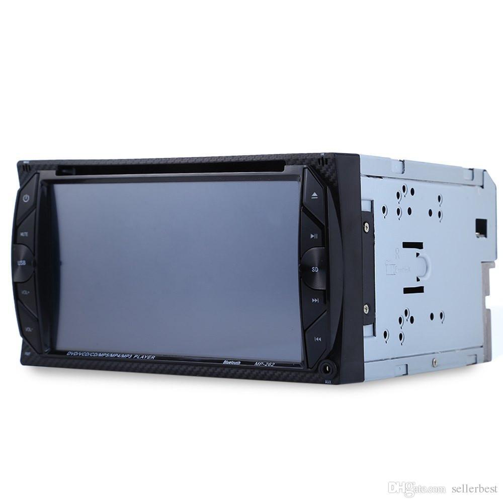 262 автомобильный аудио цифровой сенсорный экран 6.2-дюймовый Bluetooth FM громкой связи Авто Радио двойной Din 32G DVD-плеер автомобиля в тире стерео видео