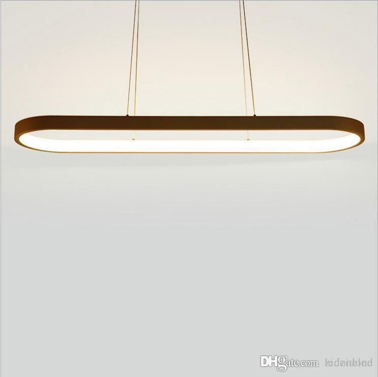 Lampe La Manger Luminosité Suspension A Le Luminaire Suspendu Moderne Haute De En Salle À Aluminium Mené Accrochant Ovale 8Ovm0wNn