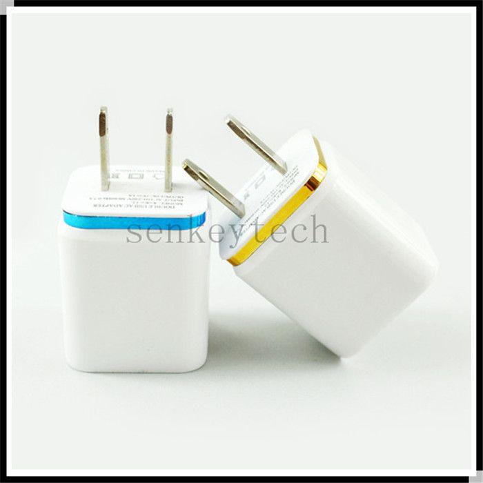 5 V 2.1A Çift USB Şarj Alarısı AB Tak 2 USB Bağlantı Noktaları AC Güç Adaptörü Cep Telefonu Seyahat Chager Duvar Şarj Tablet Akıllı Telefon MP3 MP4