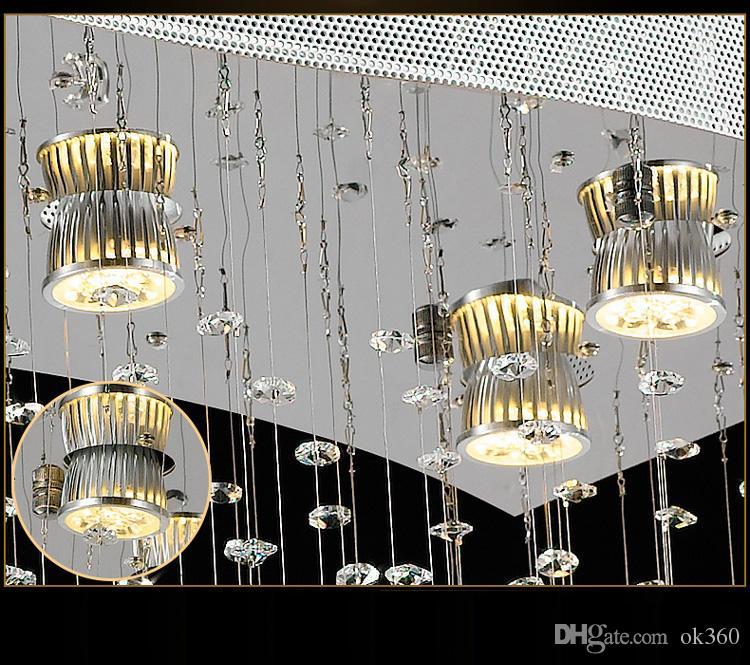 NUEVO diseño de cristal Lámpara colgante Accesorio de iluminación grande y moderna araña de cristal del hotel vestíbulo llevó la iluminación de la lámpara L150 * W150CM