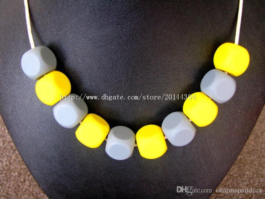 Bead fai da te in silicone fai da te / collana di allattamento BPA gratis, silicone approvato dalla FDA Food-Grade! Collane di chewelry infermieristica / dentizione alla moda Toy-M47