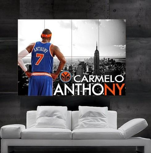 64a13070054 CARMELO ANTHONY New York View NY Knicks Poster Print Art Giant Huge 8 Parts  NO256 Christmas Wallpaper Christmas Wallpapers From Jh3891