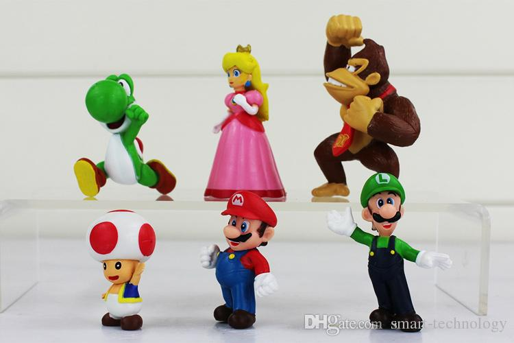 Super Mario Bros Luigi Donkey Kong pesca Action Figures / set figura mario yoshi regalo