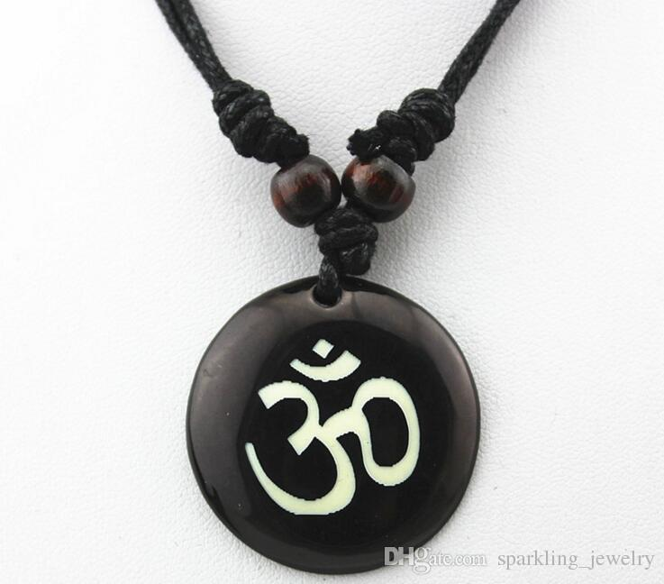 Wholesale fashion hindu hinduism pendant necklace yoga india yak wholesale fashion hindu hinduism pendant necklace yoga india yak resin bone carving pendant necklace amulet lucky gift tribal rope chain jewelry wolf mozeypictures Image collections