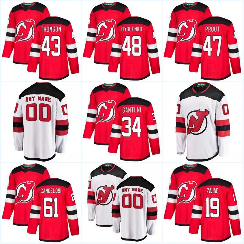 super popular c93b2 6c39d 2018 Season 54 Ryan Kujawinski 56 Blake Pietila 58 Kevin Rooney 68 Colton  White 61 Austin Cangelosi New Jersey Devils Hockey Jersey
