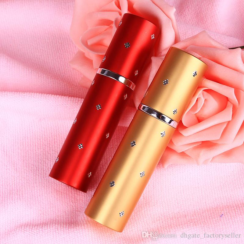 5ml Travel Mini Aluminium Perfume Atomizer Refillable Perfume Liquid Spray Empty Bottle Free Ship Color Random