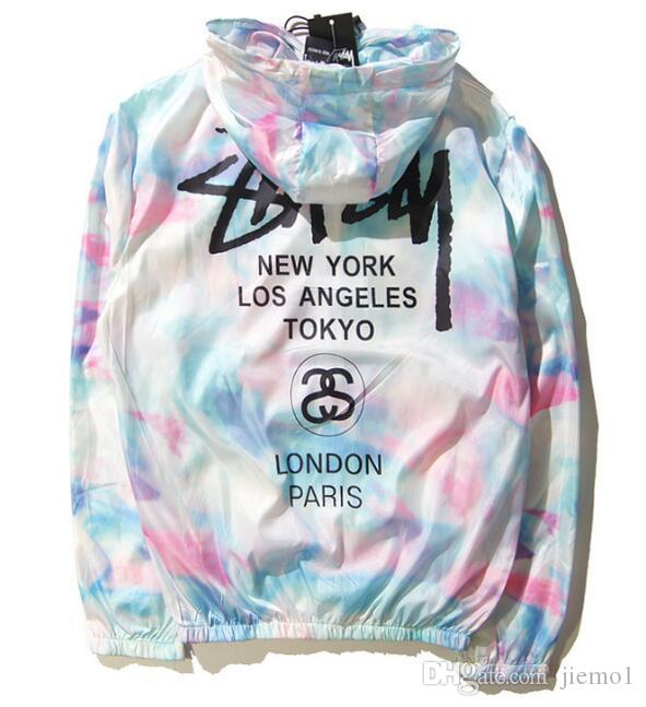 Neue Mode Frauen Männer Mäntel Splash-Ink High Street Männer Jacke Mode Herren Windjacke von Harajuku Herren Mäntel