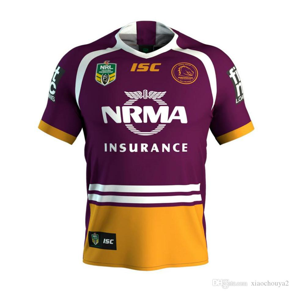 2018 NRL JERSEYS BRISBANE BRONCOS Rugby NRL National Rugby League ... 5d4865ac696