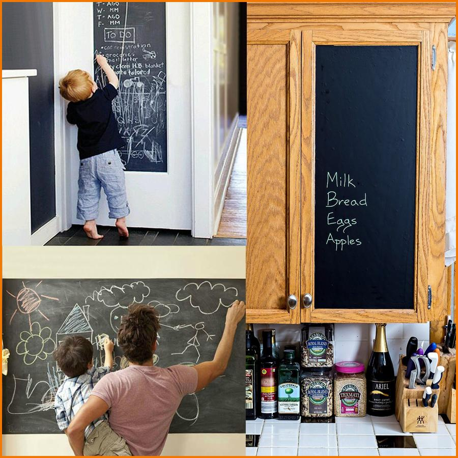 45x200cm large chalkboard decal wall sticker black black board 45x200cm large chalkboard decal wall sticker black black board drawing sticker for kids room decor 177 x 787 inch word wall stickers world map wall gumiabroncs Gallery