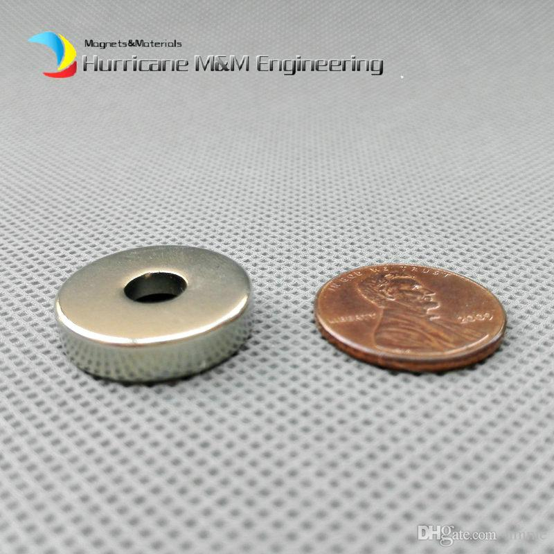 48pcs Countersunk Hole Magnet about Diameter 20x5mm Thick M5 Screw Countersunk Hole Neodymium Rare Earth Permanent Magnet
