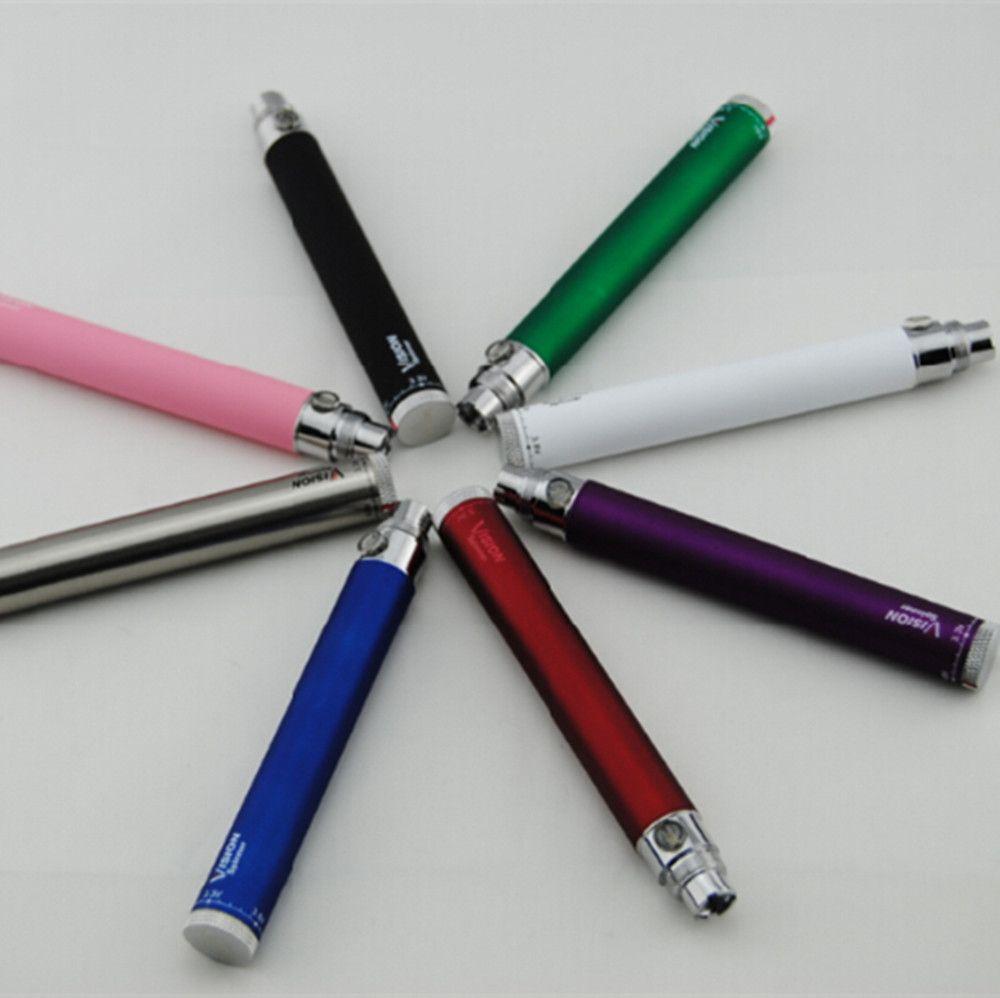 Ecigarette eGo Starter Kits Ecigs Vision Spinner 650mah 900mah 1100 mah 1300mAh batería ecig CE4 CE5 vaporizador atomizador vape plumas Kit de caja