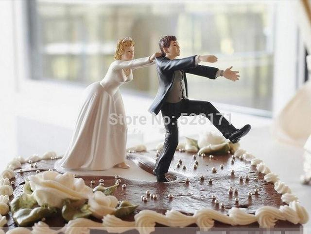 2019 Wholesale Mariage Wedding Cake Toppers Bride And Groom Resin