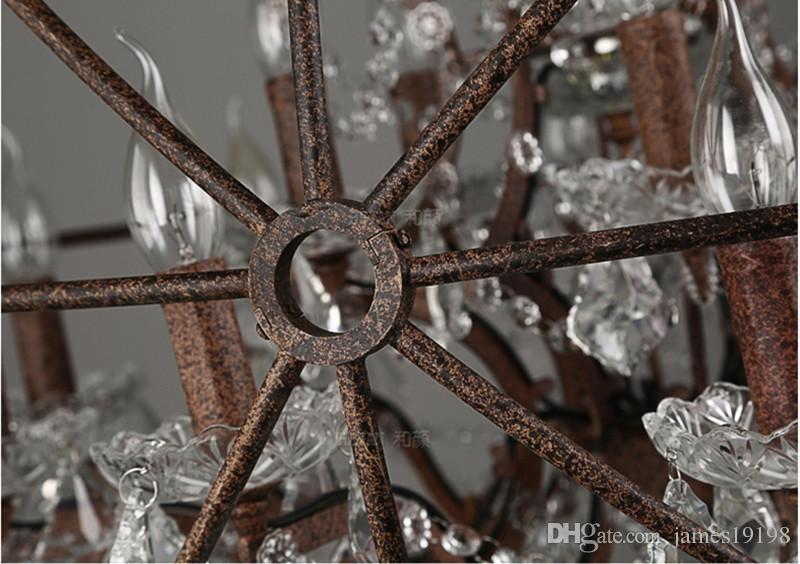 Loft Vintage Crystal Pendant Lamp ORB Chandelier Globe Ceiling Light Fixture New