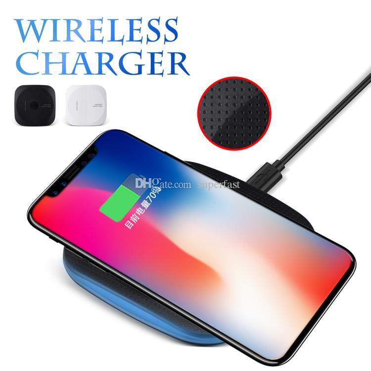 Wireless Charger Pad für iPhone X Wireless Power Charger Schnellladung für iPhone 8 Galaxy Note 8 Dock-Ladegerät mit Kleinpaket