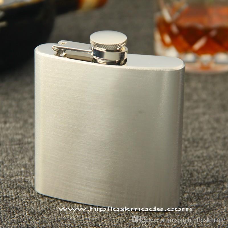 Pasó la prueba FDA 100% de acero inoxidable 3 oz 4 oz 5 oz 6 oz 7 oz 8 oz 9 oz 10 oz 12 oz frasco de cadera de acero inoxidable con cada caja negra minorista, sin rasguños