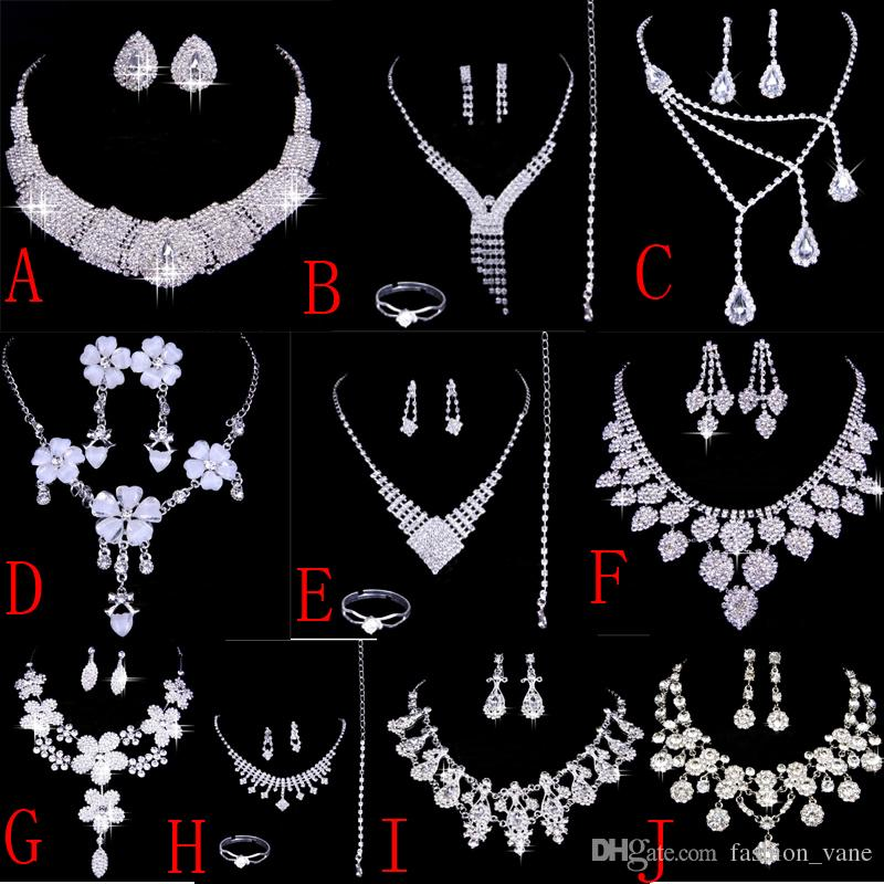 2016 Luxurious Cheap Bridal Jewelry Necklace Sets Wedding