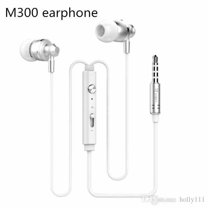 Extrabass power in ear Definition 3.5mm Plug Metal Headphone Headset Langston M300 Metal Earphone with mic iphone 6 Samsung MP3 Cellphone