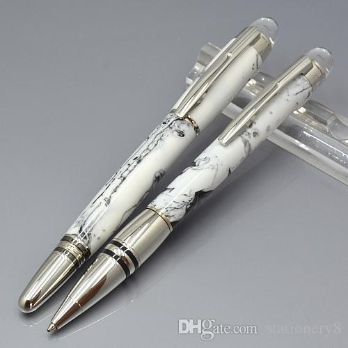 luxury mt pens new element white cloud stone design roller ball pen with m brand business office writing smooth ballpoint pen cheap ink pens old fountain