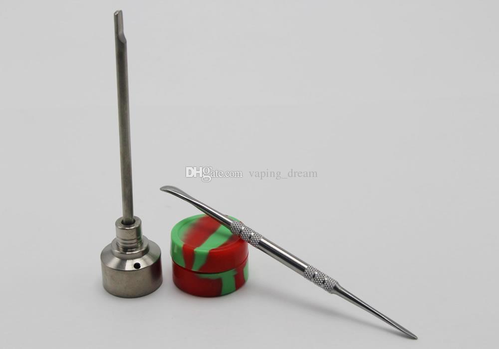 تصميم جديد أداة بونغ مجموعة 3 في 1 التيتانيوم الأظافر كارب كاب نصيحة Dabber أداة سيليكون جرة على النفط الحفارات زجاج بونغس