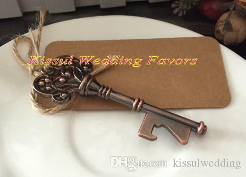 Favori di nozze 2016 di apribottiglie chiave d'epoca Regali di nozze bomboniere nuziali e decorazioni feste /