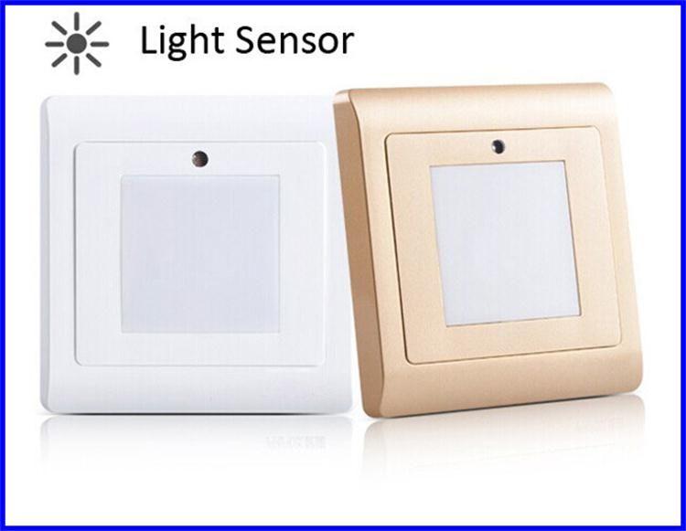 Licht-Sensor-Treppen-Wand-Licht LED-Nachtlichter 1W SMD 2835 Licht-Innennotfall vertiefte Schritt-Treppen-Lampen-Leuchter, der AC85-265V beleuchtet