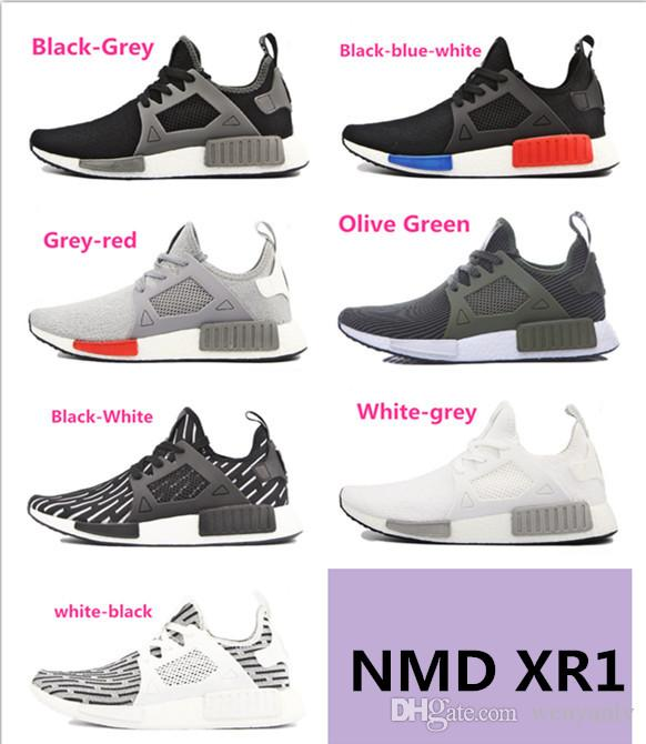 low shipping fee cheap online shop for Wholesale Women Mens NMD Runner PK Primeknit Shoes Fashion NMD Monochrome Sports Running Shoes Casual NMD Sneakers With Box + 1 pairs Socks liiRIT5