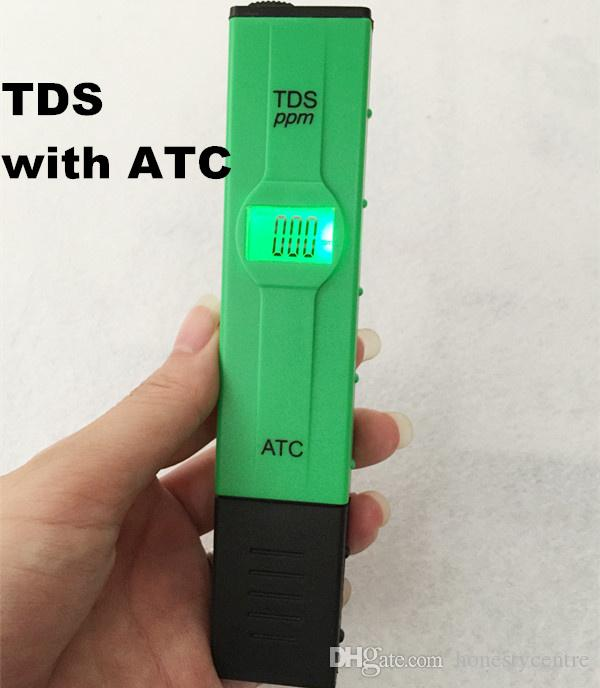 new arrivel water quality tester digital TDS pen meter with ATC conductivity 0-1999ppm green color backlight LCD for aquarium