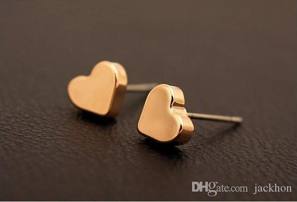 3d700898925ab6 2019 S033 Tiny Heart Studs Earrings Simple Love Heart Stud Earrings Cute  Small Geometric Stud Earrings For Women Jewelry From Jackhon, $22.11 |  DHgate.Com