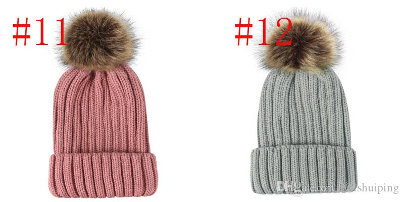 New Unisex Trendy Hat Winter Knitted Poms Beanie Luxury Skull Caps Fashion Leisure Outdoor ball Hats