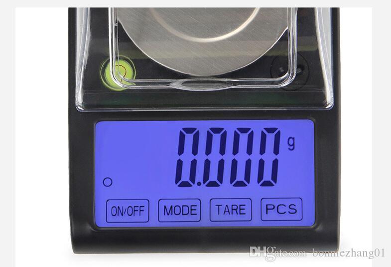 Contre-jour 50g x 0.001g Électronique LCD Écran Tactile Échelle Numérique Bijoux Or Diamant Échelle de Gram Avec Équilibreuse Horizontale
