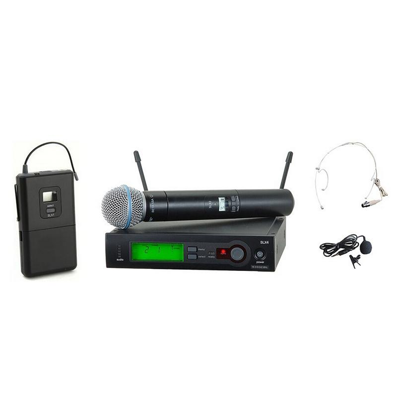 Uhf Pro Wireless Microphone System Slx24 Slx1 Beta58 Handheld