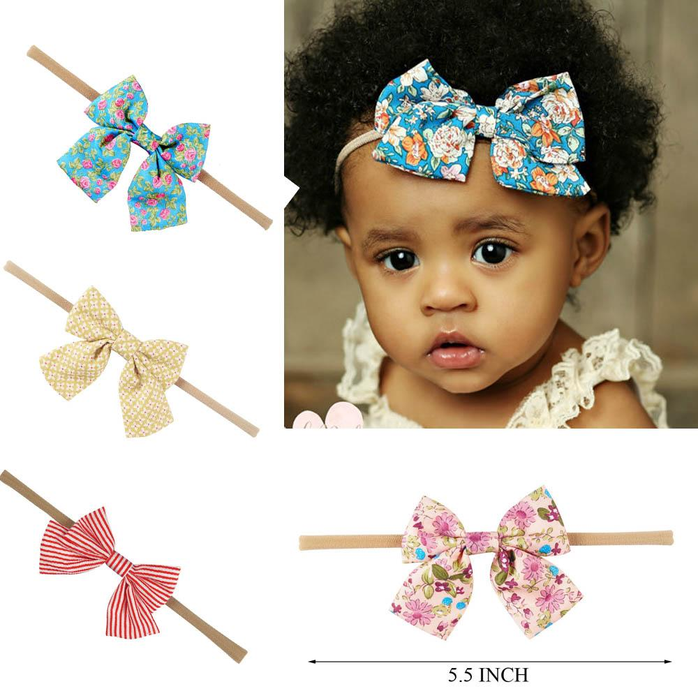 Boutique Nylon Headband With Fabric Hair Bow For Baby Girls Hair  Accessories Baby Nylon Elastic Headband Kids Hair Accessories For Weddings  Hair Accessories ... c4e054fa28f
