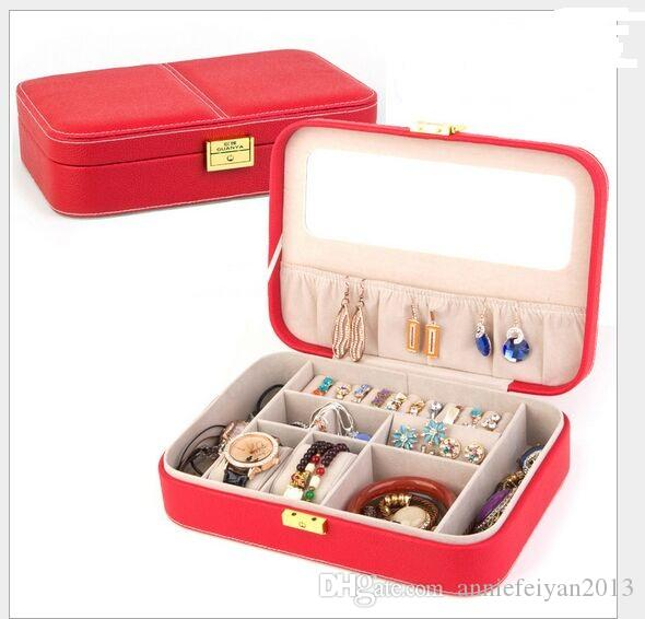 27 * 19 * 7cm Princesse Européenne Luxry Couches Simples Ensembles de bijoux Divers Produits de beauté Bijouterie Rangement Organisateur Boite / Etui / Bacs / Armoires