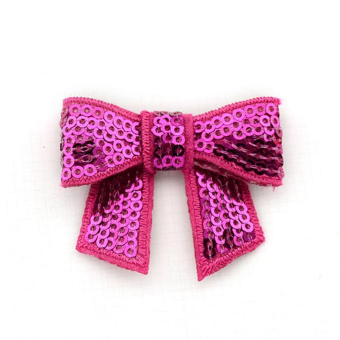 DIY волос группа аксессуары для волос вышивка флэш-шарик кусок блестки бантом галстук-бабочку 5 см*4 см микс цветов 20 шт. / лот